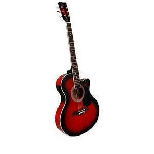 """Beginner's 41"""" Red Cutaway エレアコ with Gig Bag and Accessories エレクトリックアコースティックギ"""