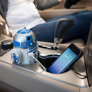 スターウォーズ R2-D2 USB 車載充電器 iPhon, iPad, Androido対応