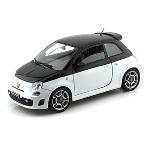 Abarth Fiat 500 1/18 Black / White MM79168-BKWH ミニ...