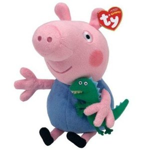 Ty Peppa Pig UK Exclusive Beanie Baby (ビーニーベイビーズ) George by Ty TOY ドール 人形 フィギュア|wakiasedry