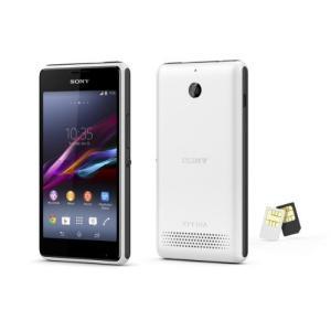 【海外版SIMフリー】 Sony ソニー XPERIA E1 Dual D2105 【dual デュアルSIM】  (ホワイト)