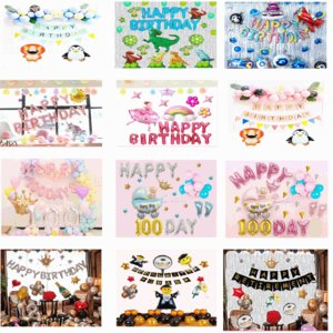 お子様誕生日パーティー飾りつけセット100日祝い飾りつけセット誕生日バルーン風船大人の誕生日パーティ...