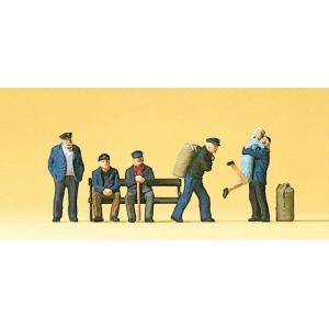 Preiserプライザー10352 船着き場の人たち【HO人形】【塗装済み】【ジオラマ小物】【メール...