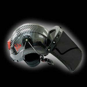 杣(SOMA) 杣 安全ヘルメット 飛来落下 (イヤーマフ&フェイスガード付)KM1504102-A|wakoshop