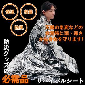 防災グッズ / サバイバルシート/ アルミブランケット レス...