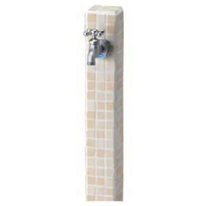 立水栓ユニット モゼック 色:バニラ 1口水栓 蛇口1個付き おしゃれ 水栓柱|wakuiki