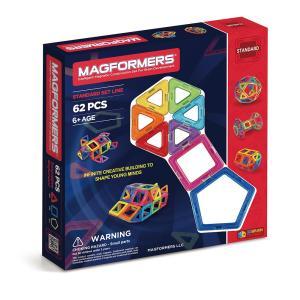マグフォーマー 62ピース MAGFORMERS マグネットブロッ ク キッズ 磁石 パズル ブロック プレゼント ギフト 誕生日 3歳 知育玩具|wakuloom