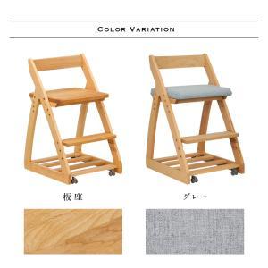 完成品/無垢材使用/高さ調整機能/キャスター付 国産 学習机椅子 木製 学習チェア 勉強椅子 椅子 LEO(レオ) 9色対応|wakuwaku-land|03