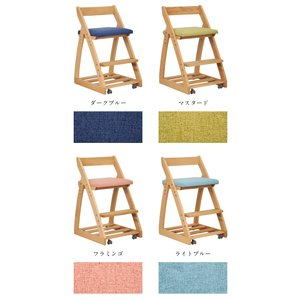 完成品/無垢材使用/高さ調整機能/キャスター付 国産 学習机椅子 木製 学習チェア 勉強椅子 椅子 LEO(レオ) 9色対応 wakuwaku-land 04