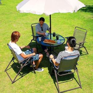 ガーデンテーブルセット 6点セット ガーデンテーブル ガーデンチェア パラソル ガーデン6点セット|wakuwaku-land