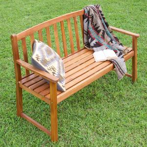 天然木アカシア材使用 ガーデンファニチャー ガーデンベンチ ガーデンチェア 屋外 木製 ガーデンチェア 木製ベンチ おしゃれ 2人掛け GB02RT|wakuwaku-land