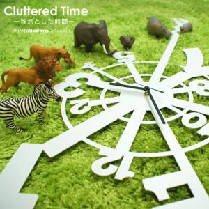 壁掛け時計 デザイナーズ Cluttered Time|wakuwaku-land