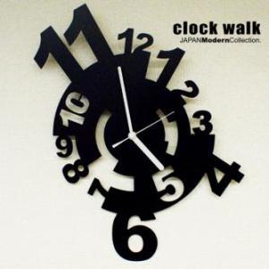 壁掛け時計 壁時計 デザイナーズ clock walk|wakuwaku-land