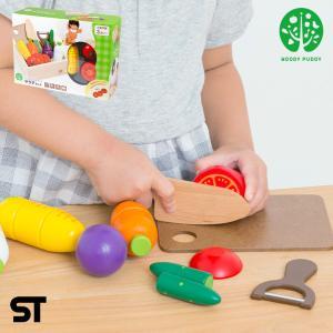 安心の正規品 マグネット式 木製 ままごと サラダセット 木箱入り|wakuwaku-land