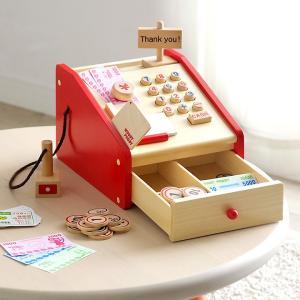 安心の正規品 ままごと はじめてのおままごと レジスター 木製 知育玩具|wakuwaku-land