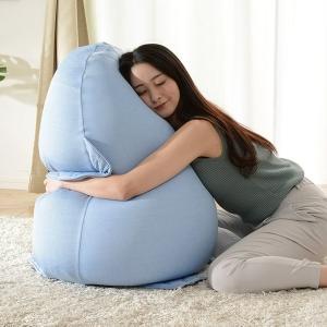 ペンギン・たまごの選べる2タイプ 日本製 クッション 接触冷感 クッションソファー カバーリング 座椅子 ひんやりカバー付き ビーズクッション 和楽の雫 4色対応|wakuwaku-land