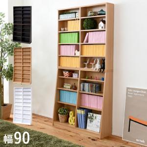 収納家具 本棚 収納 ラック シェルフ スリム 大容量 おしゃれ 薄型 棚板1cmピッチで調節可能 大容量収納ラック 幅90cm x 高さ180cm yh-110h 3色対応|wakuwaku-land