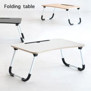 タブレット収納付き ローテーブル アウトドアテーブル センターテーブル ベッド上 寝室テラス アウトドア キャンプ メラミン 折りたたみテーブル T-3229 3色対応|wakuwaku-land