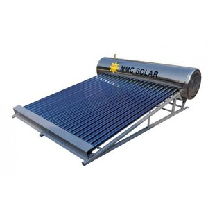 【太陽熱温水器】お湯も心も毎日わくわく!タダでお湯を沸かす「わくわくそーら180-R」衛生的なオールステンレス製。|wakuwaku-solar