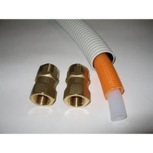 太陽熱温水器用 サヤ管・架橋ポリエチレン管10mセット(温水用)|wakuwaku-solar