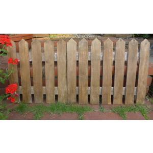 アンティーク風 木製ガーデンフェンスSブラウン ウッド MA3660-02 花台 木製 ガーデンフェンス 折りたたみ式  花壇フェンス  庭 ガーデ