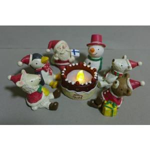 クリスマスケーキキャンドル8品セット 6XM12 LEDキャ...