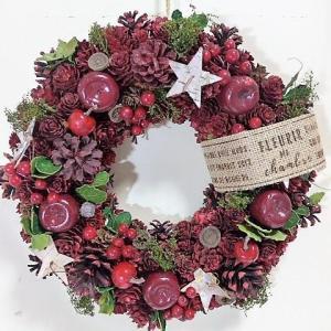 クリスマス ナチュラルリースL C702A 33.5cm フ...
