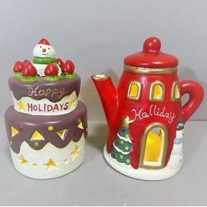 クリスマス ケーキ&ポットの4品セットLED 8XM15 ク...