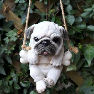 犬の置物 エンジョイブランコ パグ 3539GM いぬ イヌ 動物  オーナメント ガーデン オブジ...