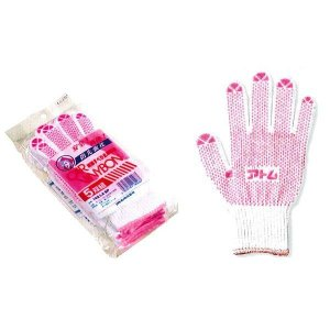 アトム【ATOM】作業手袋/滑り止め手袋 142-LA-5P カービニボン女性用 フリー 5組セット|wakuwakusunrise