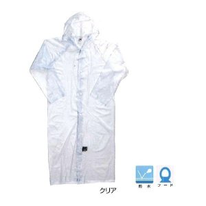 川西工業KAWANISHI作業服 レインウエア 1200 ビニール合羽 130cm クリア 12組セット|wakuwakusunrise
