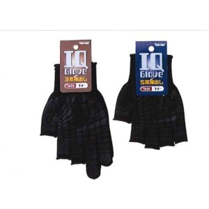 川西工業KAWANISHI作業手袋 滑り止め手袋 2228 IQグローブ 3本出し Fサイズ ブラック 10組セット|wakuwakusunrise