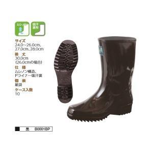 弘進ゴムKOHSHIN RUBBER作業靴   B0001BP ムレノン紳士半長 24.0〜26.0cm、27.0cm、28.0cm 黒 |wakuwakusunrise
