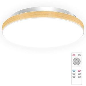 led シーリングライト 木目調 6畳 照明器具 天井 調光 調色 18W 2200lm リモコン付き 明るさメモリ機能 30分/60分 タ|wakuwakutown
