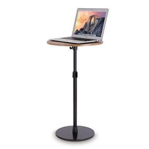 viozonスモールフロアスタンディングデスク サイドテーブル ベッドサイド ソファ 寝室テーブル 高さ調整可能 簡単組立 小型家具(黒と茶 wakuwakutown