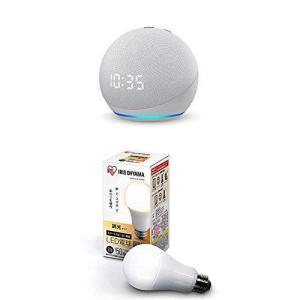 【新型】Echo Dot (エコードット) 第4世代 - 時計付きスマートスピーカー with Alexa グレーシャーホワイト + アイリ|wakuwakutown