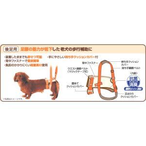 老犬介護用 歩行補助ハーネス K 後足用 M 犬 介護用品|walajin-dog|02