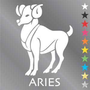 牡羊座 ステッカー  おひつじ座・aries|walajin-dog