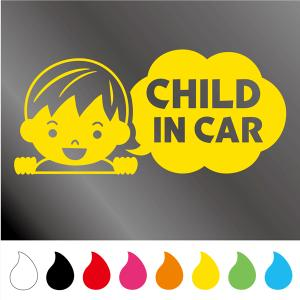 CHILD IN CAR  Cタイプ カー シール こども チャイルド 自動車 車 デカール ステッカー 車 walajin-dog