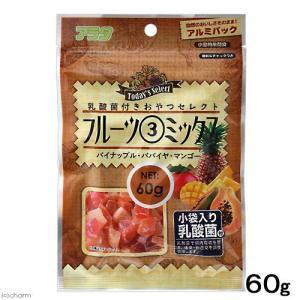 乳酸菌付き おやつセレクト フルーツ3ミックス 60g 小動物 おやつ walajin-dog