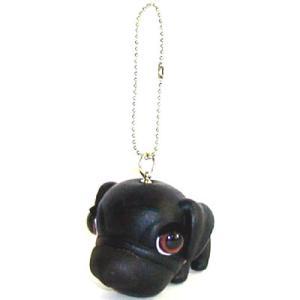THE DOG キーホルダー パグ  ブラック|walajin-dog