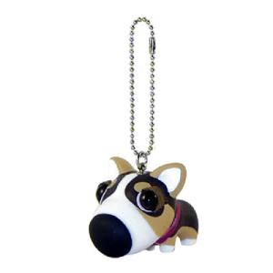 THE DOG キーホルダー ウェルシュコーギー ダークブラウン|walajin-dog
