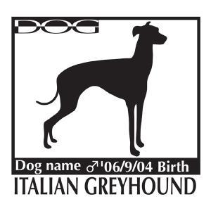 犬・ドッグ ステッカー 「A」パターン Lサイズ 名入れ|walajin-dog