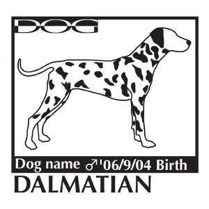 犬・ドッグ ステッカー 「A」パターン Mサイズ 名入れ|walajin-dog