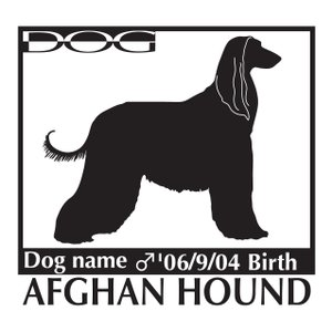 アフガンハウンド犬 ステッカー A Lサイズ|walajin-dog