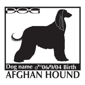 アフガンハウンド犬 ステッカー A Mサイズ|walajin-dog