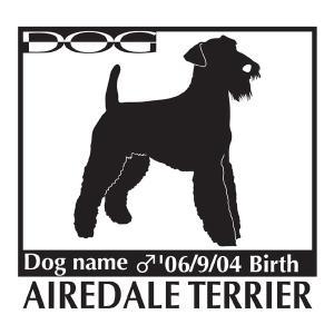 エアデールテリア 犬 ステッカー A Lサイズ|walajin-dog