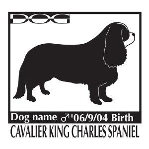 ドッグステッカーA キャバリアキングチャールズスパニエルのグッズ 柄入りMサイズ|walajin-dog