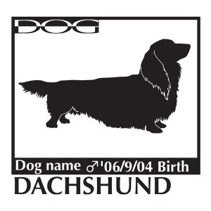 犬 ステッカーA ダックスフンド ロング Lサイズ|walajin-dog