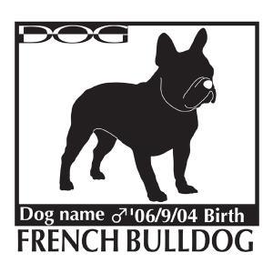 犬 ステッカーA フレンチブルドッグ Mサイズ walajin-dog